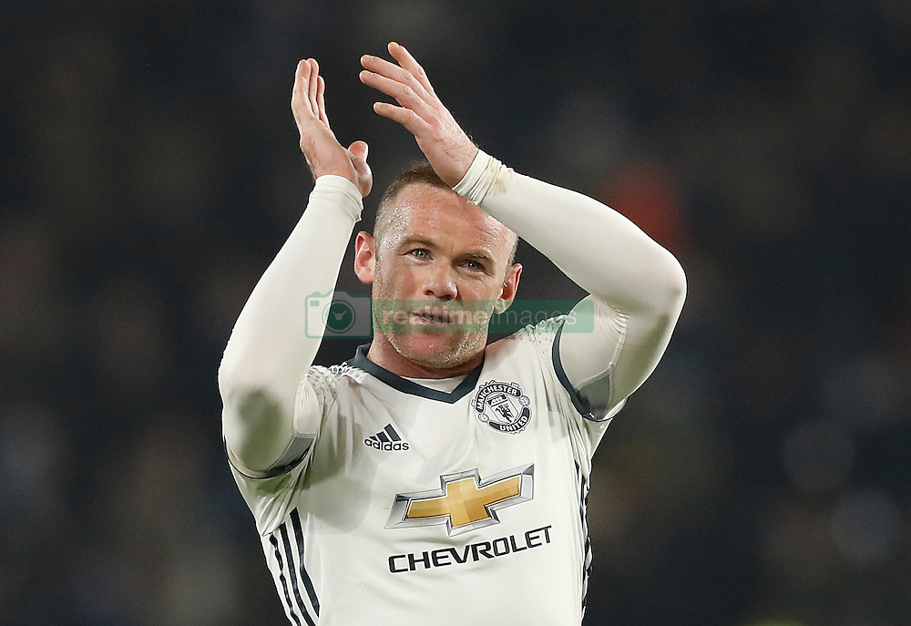 File photo dated 26-01-2017 of Manchester United's Wayne Rooney celebrates after the final whistle of the EFL Cup Semi Final, Second Leg match against Hull City.