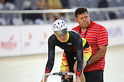 Waikato BOP Jaime Nielsen at the BikeNZ Elite & U19 Track National Championships, Avantidrome, Home of Cycling, Cambridge, New Zealand, Sunday, March 16, 2014. Credit: Dianne Manson