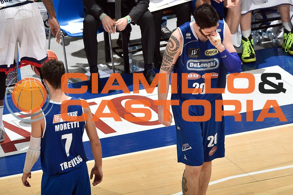 DESCRIZIONE : LNP Playoff Serie A2 Citroen 2015- 2016 Semifinale Gara 3 Eternedile Bologna - De Longhi Treviso<br /> GIOCATORE : Andrea Ancellotti<br /> CATEGORIA : delusione<br /> SQUADRA : De Longhi Treviso<br /> EVENTO : LNP Playoff Serie A2 Citroen 2015- 2016<br /> GARA : Playoff Semifinale Gara 3 Eternedile Bologna - De Longhi Treviso<br /> DATA : 04/06/2016<br /> SPORT : Pallacanestro <br /> AUTORE : Agenzia Ciamillo-Castoria/Max.Ceretti