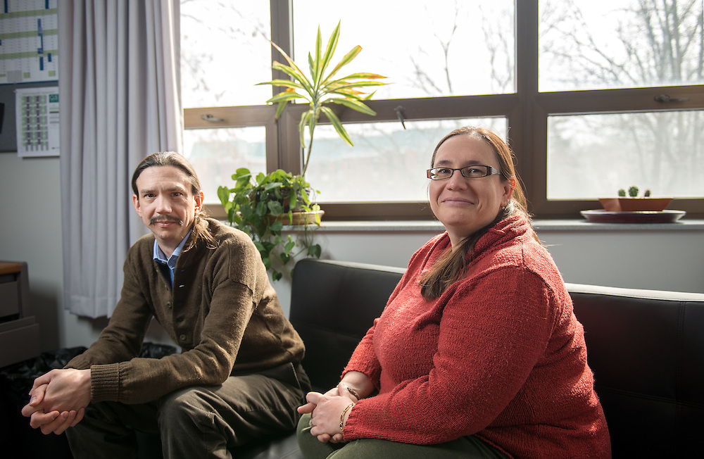 Research Assistant Professor Paul King and <br />