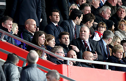 Tottenham Hotspur manager Mauricio Pochettino (centre) in the stands during the Premier League match at St Mary's Stadium, Southampton.