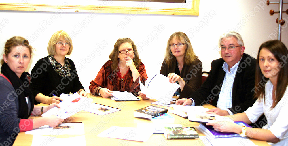 Roma committee members of Clare arm of Comenius project: from left, &ccedil;ine Meehan, Ennis Community College; Mary Flanagan, V.E.C. Family Learning Programme; &icirc;rla N&rsquo; &fnof;il&rsquo;, Clare Immigrant Support Centre; Claire Sheehan,  also Family Learning Prog.; Se&Dagger;n &icirc; Confhaola and Orla Kelly, Ennis Educate Together Primary School. Also on the committee is Ennis Community College&Otilde;s Patricia Murray.<br /> Roma committee members of Clare arm of Comenius project: from left, &Aacute;ine Meehan, Ennis Community College; Mary Flanagan, V.E.C. Family Learning Programme; &Oacute;rla N&iacute; &Eacute;il&iacute;, Clare Immigrant Support Centre; Claire Sheehan,  also Family Learning Prog.; Se&aacute;n &Oacute; Confhaola and Orla Kelly, Ennis Educate Together Primary School. Also on the committee is Ennis Community College&rsquo;s Patricia Murray.