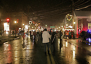Pine Bush, NY -  People walk on the street during the Pine Bush Festival of Lights on Dec. 5, 2009.
