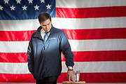 Presidential hopeful Senator Marco Rubio (R-FL) holds a town hall meeting at the Brownell factory in Grinnell in Iowa.