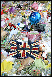 Flowers left outside The Royal Artillery Barracks, Woolwich, South London, to pay respect for the Murder of soldier Drummer Lee Rigby, Friday, 31st May 2013, Picture by Andrew Parsons / i-Images