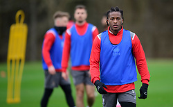 Lincoln City's Akeem Hinds during a training session at the BMW Soper of Lincoln Elite Performance Centre, Scampton, Lincolnshire.<br /> <br /> Picture: Chris Vaughan Photography for Lincoln City FC<br /> Date: February 4, 2020