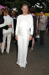Actress TILDA SWINTON at the Serpentine Gallery Summer party sponsored by Yves Saint Laurent held at the Serpentine Gallery, Kensington Gardens, London W2 on 11th July 2006.<br />