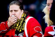 DEVENTER - teleurgestelde fans  van Joda op de tribune na de wedtrsijd . Roda JC is op de slotdag gedegradeerd uit de eredivisie. De Limburgse ploeg won zaterdag met 1-0 bij Go Ahead Eagles. Concurrent NEC stelde echter bij kampioen Ajax een kapitaal punt veilig (2-2). Daardoor bleef Roda JC laatste, met 1 punt minder dan NEC. COPYRIGHT ROBIN UTRECHT
