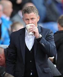 Cardiff City Manager, Ole Gunnar Solskjær - Photo mandatory by-line: Alex James/JMP - Mobile: 07966 386802 30/08/2014 - SPORT - FOOTBALL - Cardiff - Cardiff City stadium - Cardiff City  v Norwich City - Barclays Premier League