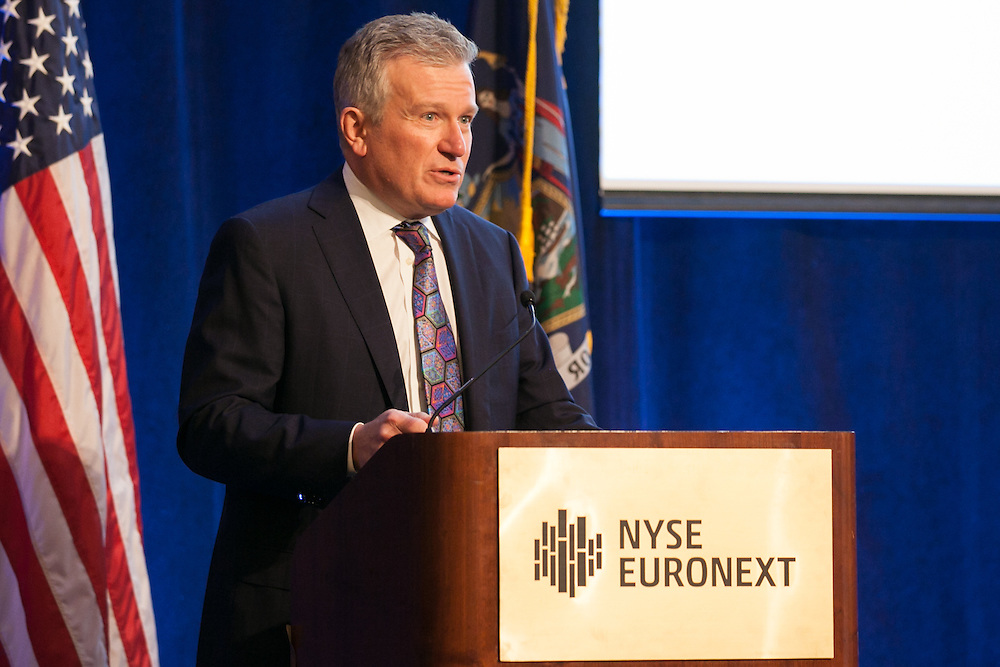 Duncan Niederauer, CEO, NYSE Euronext, and President, Intercontinental Exchange Group at the 100 Best W!se High Schools Teaching Personal Finance 2014 were honored in a ceremony held at the NYSE/Euronext.