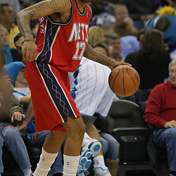 Jan 08, 2010; New Orleans, LA, USA; New Jersey Nets forward Chris Douglas-Roberts (17) controls the ball against the New Orleans Hornets during the second half at the New Orleans Arena. The Hornets defeated the Nets 103-99. Mandatory Credit: Derick E. Hingle-US PRESSWIRE.