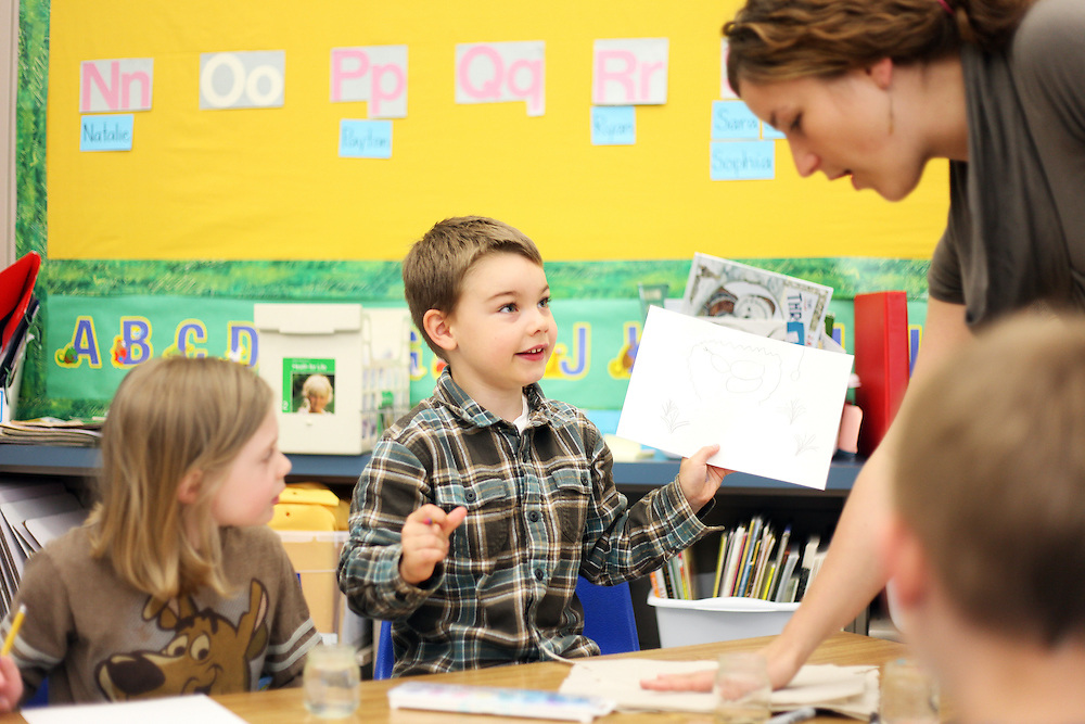 Blake Jewett. Casey Brennan's kindergarten class at Hopkins Elementary School in Sherwood on Wednesday, May 23, 2012.