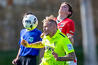 MARBELLA - 07-01-2017, Trainingskamp, AZ - FC Augsburg, FC Augsburg speler Jonathan Schmid, AZ speler Guus Til