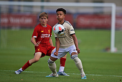KIRKBY, ENGLAND - Saturday, August 31, 2019: Manchester United's Shola Shortire during the Under-18 FA Premier League match between Liverpool FC and Manchester United at the Liverpool Academy. (Pic by David Rawcliffe/Propaganda)