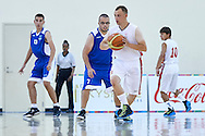 Mateusz Siwinski SO Poland athlete in action while basketball match SO Poland v SO Israel during second day of the Special Olympics World Games Los Angeles 2015 on July 26, 2015 on Galen Center at University of Southern California in Los Angeles, USA.<br /> USA, Los Angeles, July 26, 2015<br /> <br /> Picture also available in RAW (NEF) or TIFF format on special request.<br /> <br /> For editorial use only. Any commercial or promotional use requires permission.<br /> <br /> Adam Nurkiewicz declares that he has no rights to the image of people at the photographs of his authorship.<br /> <br /> Mandatory credit:<br /> Photo by © Adam Nurkiewicz / Mediasport