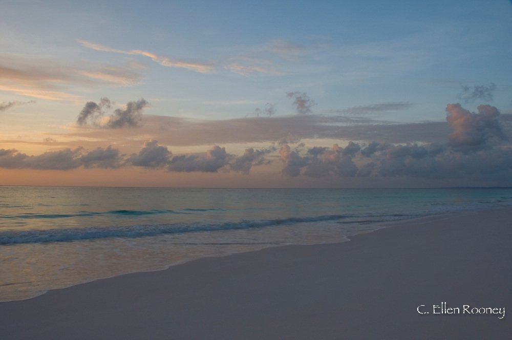 Sunrise on Pink Sands Beach, Harbour Island, The Bahamas