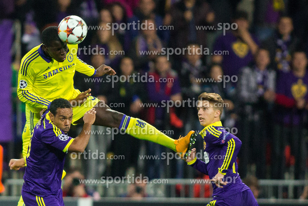Kurt Zouma of Chelsea vs Marcos Tavares of Maribor during football match between NK Maribor, SLO  and Chelsea FC, ENG in Group G of Group Stage of UEFA Champions League 2014/15, on November 5, 2014 in Stadium Ljudski vrt, Maribor, Slovenia. Photo by Vid Ponikvar / Sportida