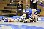 Madison's Justin Farry works to pin Western Albemarle's Daniel Crowley in the 171 lb class.  Justin pinned Daniel in 3:30 to win the match.., MCHS Wrestling.7th Annual Mountaineer Classic .vs Western Albemarle .1/2/10