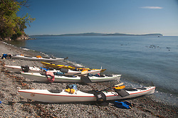 Kayaks, Stuart Island, Washington, US