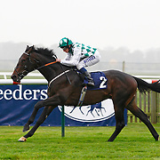 Crop Report and Ryan Moore winning the 4.10 race