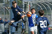 08.04.17; Zuerich; Fussball FCZ Academy - Grasshopper Club - Zuerich FE14 Oberland; <br /> Lederer Pascal (Zuerich) Spina Luca (GC) <br /> (Andy Mueller/freshfocus)