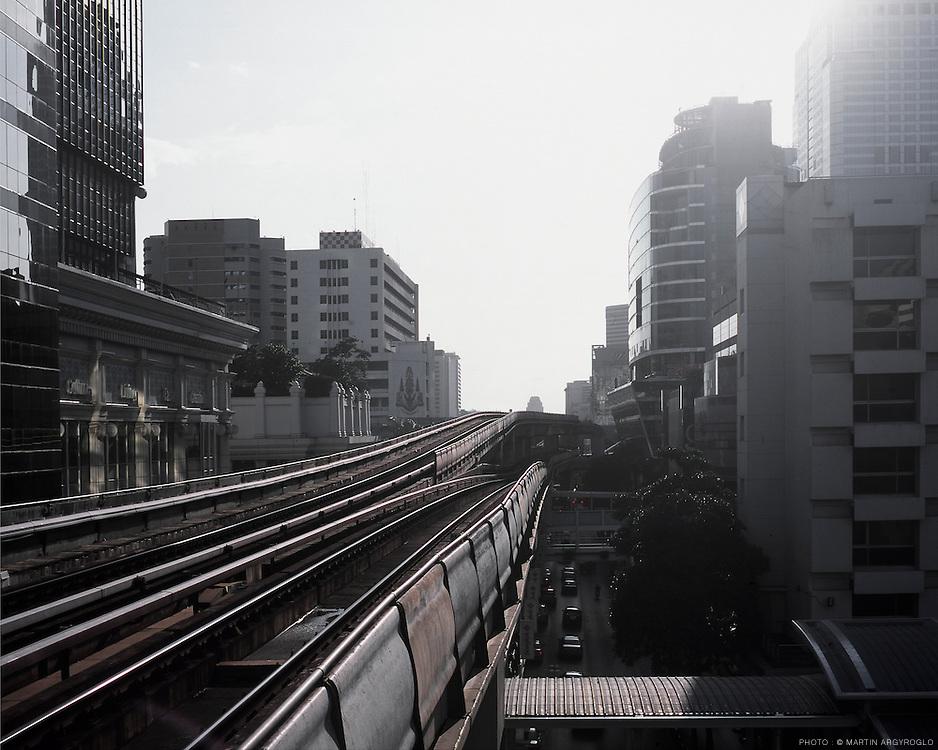 Skytrain in Bangkok, Thailand, 2007.