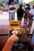 Orlando, Florida, USA, 20090325:   The Disney EPCOT Center in Orlando. New security measures includes a finger print reader upon entering the EPCOT Center.  Photo: Orjan F. Ellingvag/ Dagbladet/ Corbis