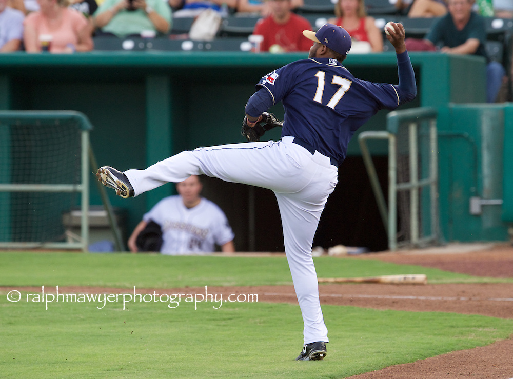 Ralph Mawyer/MiLB - San Antonio Missions hosted the Springfield Cardinals on July 8, 2015 at Nelson Wolff Stadium in San Antonio, TX. Photo: Ralph Mawyer Photography/MiLB.com<br /> Duanel Jones