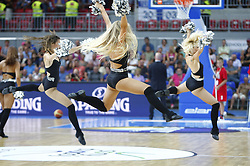 Dance girl during friendly match between National teams of Slovenia and Bosnia and Herzegovina for Eurobasket 2013 on August 16, 2013 in Podmezakla, Jesenice, Slovenia. (Photo by Urban Urbanc / Sportida.com)