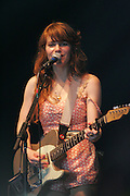 Jenny Lewis of Rilo Kiley performs during the third day of the 2008 Bonnaroo Music & Arts Festival on June 14, 2008 in Manchester, Tennessee. The four-day music festival features a variety of musical acts, arts and comedians..Photo by Bryan Rinnert