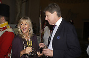 Liz Brewer and Sir Toby Clarke. Launch of ' The World of Private Castles, Palaces and Estates. Syon House. 31 October 2005. ONE TIME USE ONLY - DO NOT ARCHIVE © Copyright Photograph by Dafydd Jones 66 Stockwell Park Rd. London SW9 0DA Tel 020 7733 0108 www.dafjones.com