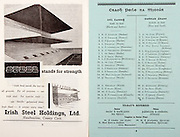 All Ireland Senior Hurling Championship Final,.02.09.1962, 09.02.1962, 2nd September 1962,.Minor Tipperary v Kilkenny, .Senior Wexford v Tipperary, Tipperary 3-10 Wexford 2-11, ..Irish Steel Holdings ltd, .Haulbowling County Cork, ...Kilkenny,.Skehan, Treacy, Phelan, Walsh, Hanrahan, Drennan, Burke,  Byrne, Muldowney,  Cooke, Walsh, Delaney, Dunphy,  Aylward,  Walsh, Walsh,  Ryan,  Twomey,  Kinsella, 20 Shortall, ..Tipperary, .Fayard, Smith, O'Rourke, O'Meara, Killoran, Gaynor, Loughnane, Delaney, O'Brien, Nolan,  Keating,  Loughnane, Molony,  Buckley, Brennan, Fleming, Nash,  Darmody,  Gould, Hayes,