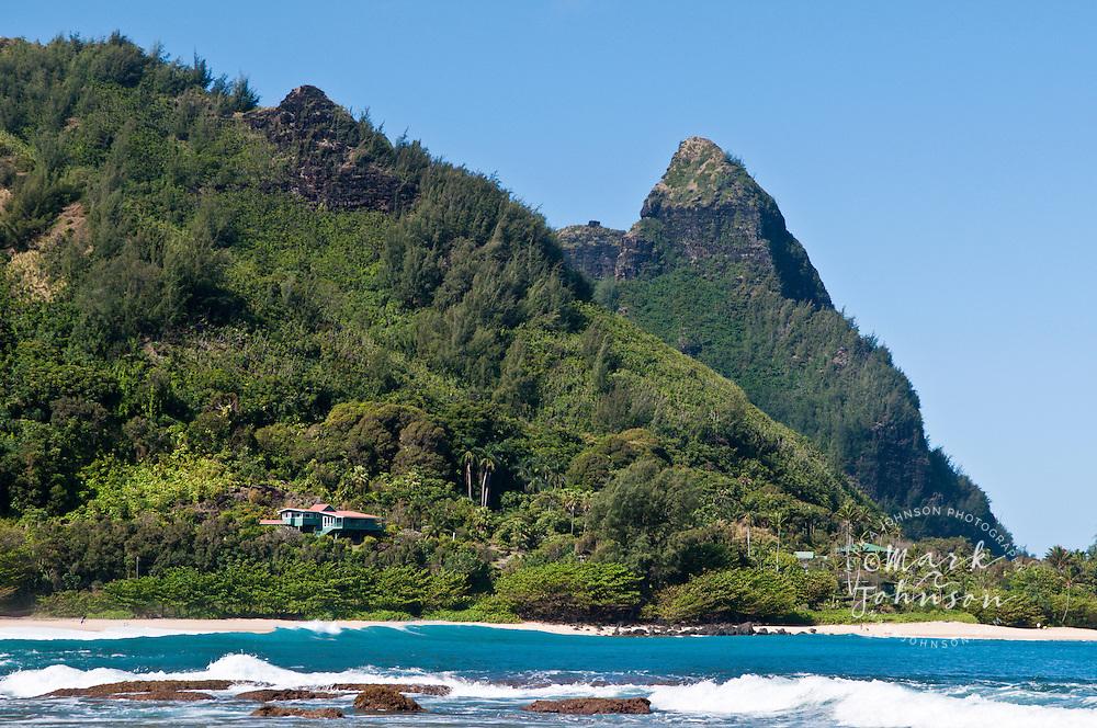 Haena Beach & Mt. Makana, Kauai, Hawaii