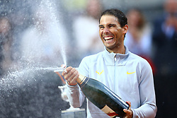 May 20, 2018 - Rome, Italy - RAFAEL NADAL of Spain celebrates after winning the Men's Singles Final of the ATP Italian Open tennis tournament. (Credit Image: © Matteo Ciambelli/NurPhoto via ZUMA Press)
