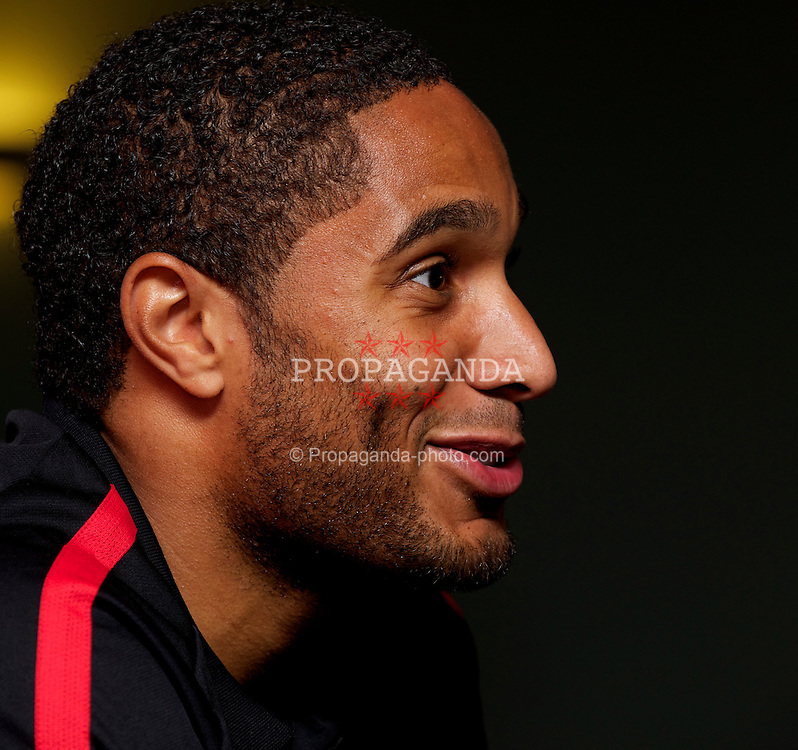 CARDIFF, WALES - Thursday, October 7, 2010: Wales' captain Ashley Williams during a press conference at the Vale of Glamorgan ahead of the UEFA Euro 2012 Qualifying Group G match against Bulgaria. (Pic by David Rawcliffe/Propaganda)