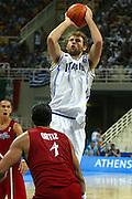 ATENE, 26 AGOSTO 2004<br /> BASKET, OLIMPIADI ATENE 2004<br /> ITALIA - PORTORICO<br /> NELLA FOTO: GIACOMO GALANDA<br /> FOTO CIAMILLO