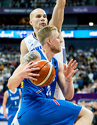 Haukur Palsson of Iceland during basketball match between National Teams of Finland and Iceland at Day 7 of the FIBA EuroBasket 2017 at Hartwall Arena in Helsinki, Finland on September 6, 2017. Photo by Vid Ponikvar / Sportida