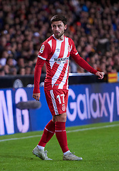 November 3, 2018 - Valencia, U.S. - VALENCIA, SPAIN - NOVEMBER 03: Patrick Roberts, midfielder of Girona FC looks during the La Liga match between Valencia CF and Girona FC at  Mestalla  stadium on November 03, 2018 in Valencia, Spain.  (Photo by Carlos Sanchez Martinez/Icon Sportswire) (Credit Image: © Carlos Sanchez Martinez/Icon SMI via ZUMA Press)
