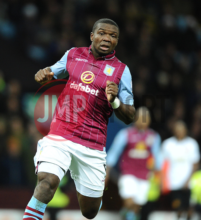 Aston Villa's Jores Okore  - Photo mandatory by-line: Joe Meredith/JMP - Mobile: 07966 386802 - 20/12/2014 - SPORT - football - Birmingham - Villa Park - Aston Villa v Manchester United - Barclays Premier League