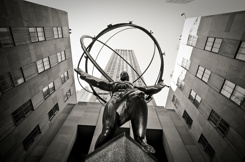 The statue of The Atlas on Fifth Avenue, Manhattan, New York.