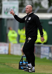 Port Vale Manager, Robert Page - Photo mandatory by-line: Harry Trump/JMP - Mobile: 07966 386802 - 25/04/15 - SPORT - FOOTBALL - Sky Bet League One - Yeovil Town v Port Vale - Huish Park, Yeovil, England.