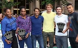 August 23, 2018 - New York City, New York, U.S. - Tennis players SERENA WILLIAMS, VENUS WILLIAMS, RAFAEL NADAL, ALEXANDER ZVEREV, MISCHA ZVEREV and NICK KYRGIOS attend the 2018 Lotte Palace Invitational Badminton Tournament held at the Lotte New York Palace. (Credit Image: © Nancy Kaszerman via ZUMA Wire)