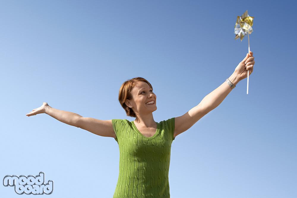 Woman with Pinwheel