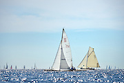 "France Saint - Tropez October 2013, Classic Yachts racing at the Voiles de Saint - Tropez<br /> C,DAN1927,RUNA VI,""10,41"",COTRE AURIQUE/1927,RONNE<br /> <br /> S188"