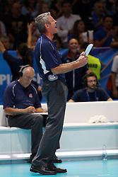 TEAM USA HEAD COACH KARCH KIRALY<br /> USA - CHINA <br /> FINAL VOLLEYBALL WOMEN'S WORLD CHAMPIONSHIP 2014<br /> MILAN (ITA) 12-10-2014<br /> PHOTO BY FILIPPO RUBIN
