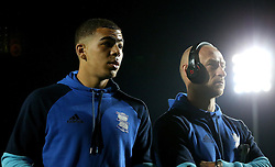 Che Adams and David Cotterill of Birmingham City arrive at the Pirelli Stadium for the fixture with Burton Albion  - Mandatory by-line: Robbie Stephenson/JMP - 21/10/2016 - FOOTBALL - Pirelli Stadium - Burton upon Trent, England - Burton Albion v Birmingham City - Sky Bet Championship