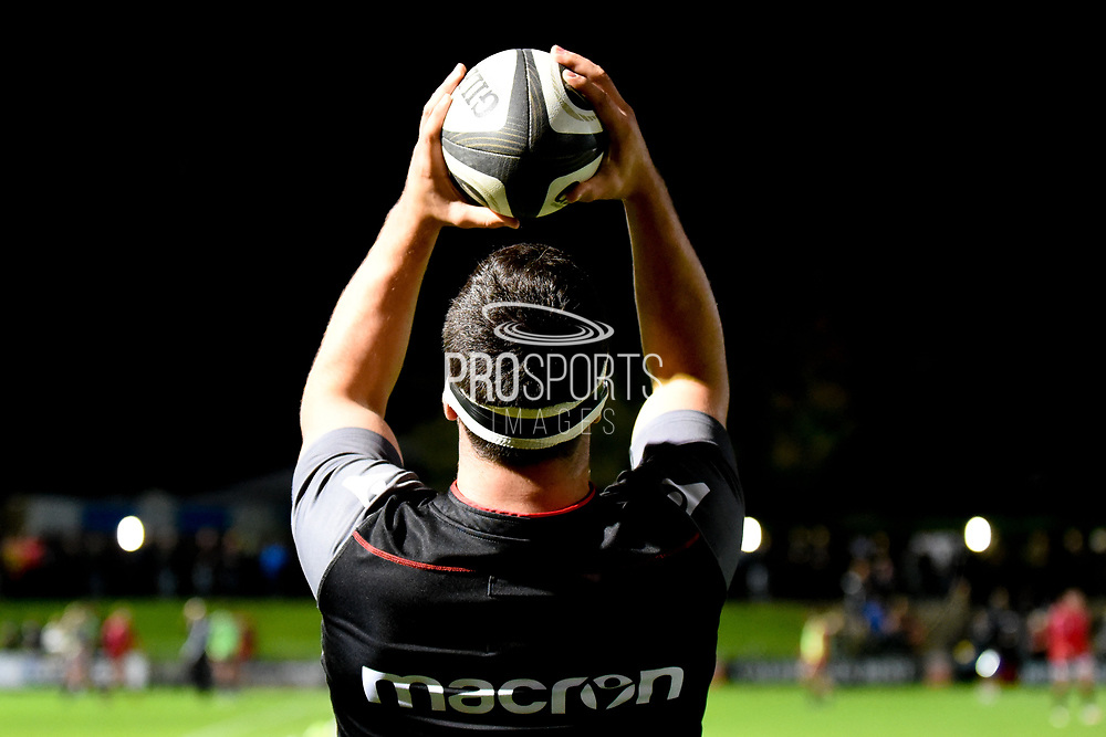 Lineout practice for Stuart McInally ahead of the Guinness Pro 14 2017_18 match between Edinburgh Rugby and Zebre at Myreside Stadium, Edinburgh, Scotland on 6 October 2017. Photo by Kevin Murray.