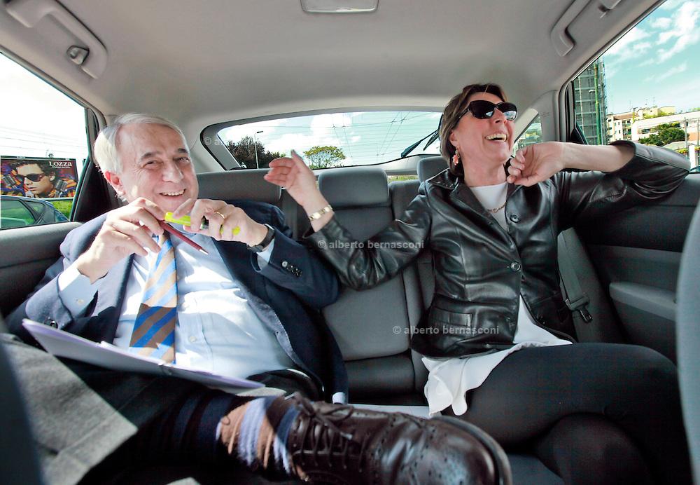 Milano, il sindaco Giuliano Pisapia: con la moglie Cinzia Sasso.