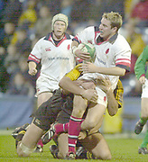 London. Great Britain. Ulster Full back Paddy Wallace on the attack  during the Heineken Cup. London Wasps v Ulster Match, played at Loftus Road, West London. 06/01/2002.  [Mandatory Credit;  Peter Spurrier/Intersport Images]..