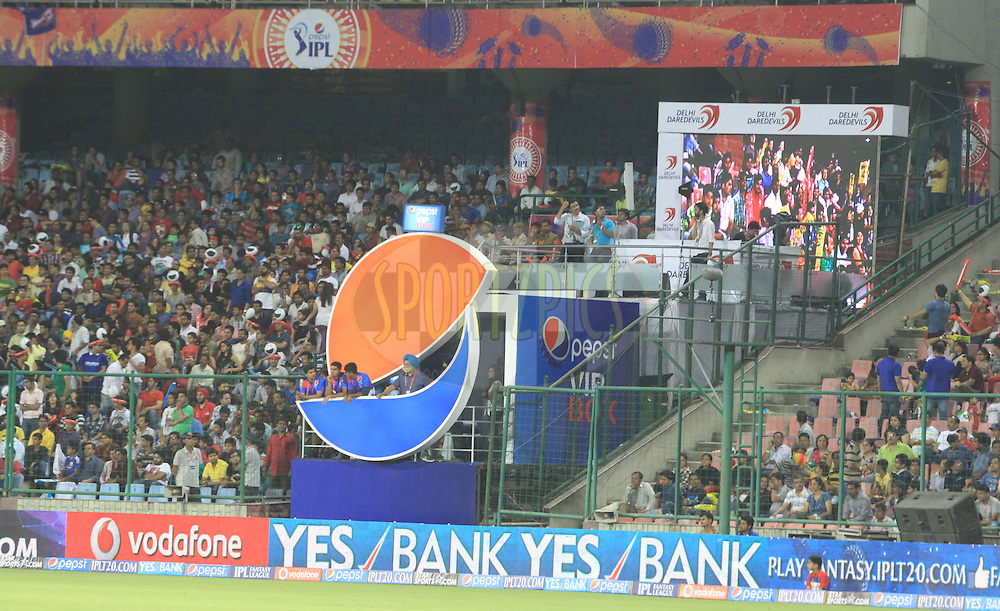 Pepsi VIP box during match 23 of the Pepsi Indian Premier League Season 2014 between the Delhi Daredevils and the Rajasthan Royals held at the Feroze Shah Kotla cricket stadium, Delhi, India on the 3rd May  2014<br /> <br /> Photo by Arjun Panwar / IPL / SPORTZPICS<br /> <br /> <br /> <br /> Image use subject to terms and conditions which can be found here:  http://sportzpics.photoshelter.com/gallery/Pepsi-IPL-Image-terms-and-conditions/G00004VW1IVJ.gB0/C0000TScjhBM6ikg